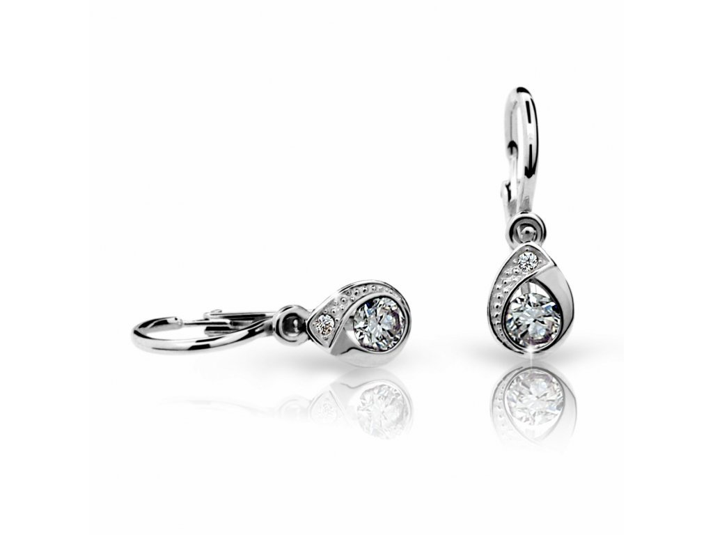Briliantové náušnice ve tvaru slzičky ND1898 Diamonds