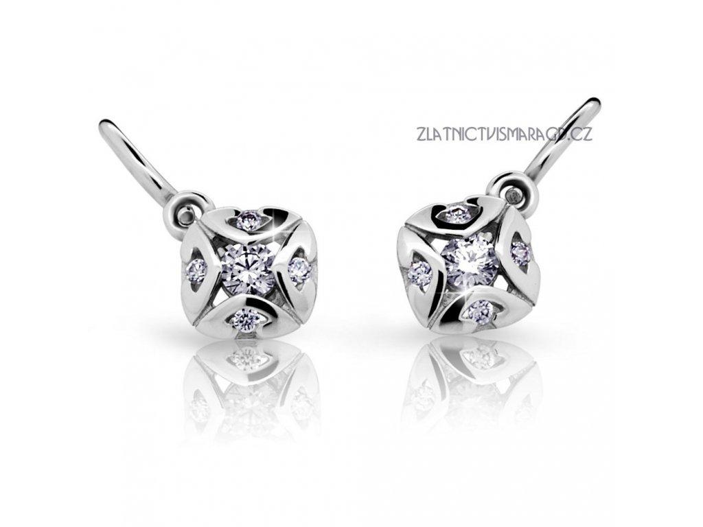Náušnice bílé zlato s brilianty ND2250 Diamonds – dětské