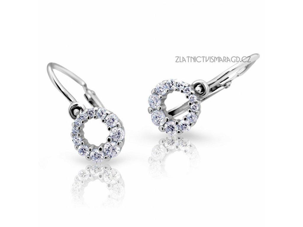 Holčičí náušnice s briliantovým okvětím ND2154 Diamonds bílé zlato
