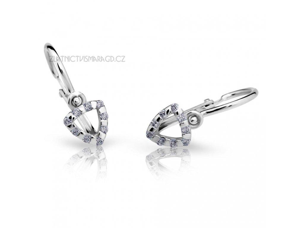 Briliantové náušnice pro holčičky ND2155 Diamonds z bílého zlata