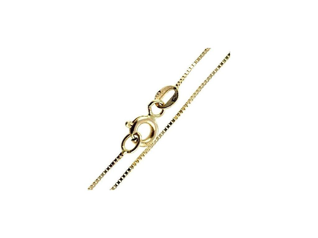 1028-5 Zlatý náramek na kotník 25cm žluté zlato