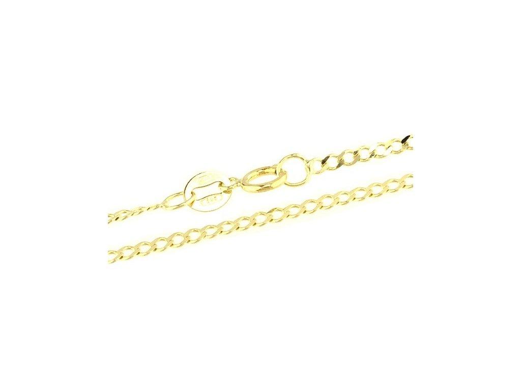 1040-5 Zlatý řetízek 50cm žluté zlato