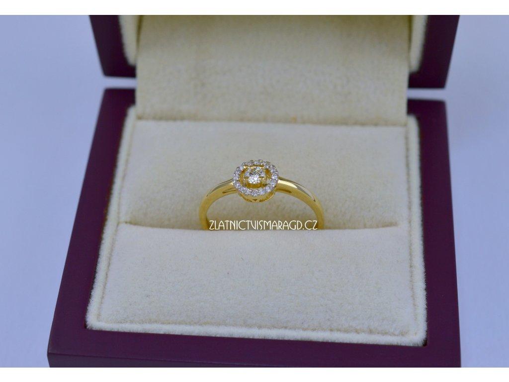 briliantový prsten 19 bril.