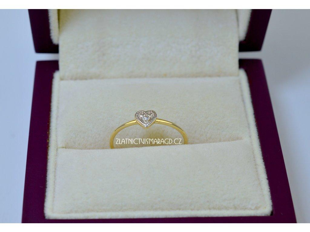 Briliantový prsten srdce