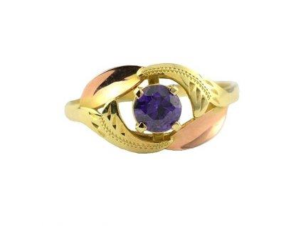 Zlatý prsten ze žlutého zlata