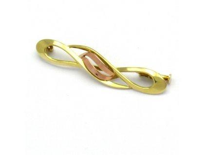 Zlatá brož - spirálka