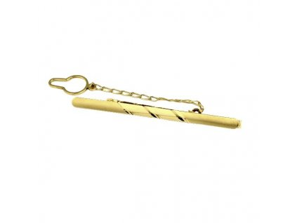Kravatová spona ze žlutého zlata