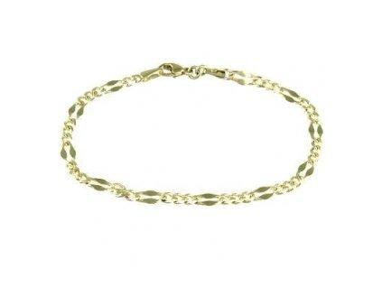 Zlatý náramek 17cm žluté zlato