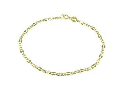 Zlatý náramek 18cm žluté zlato