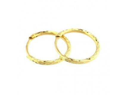 Zlaté kruhy 20mm