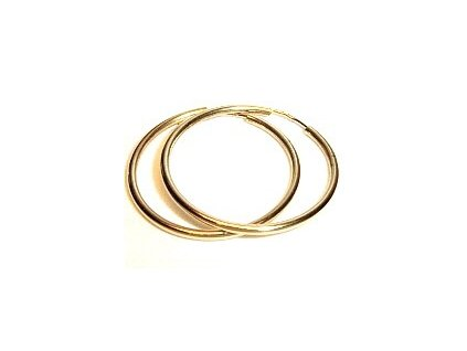 Zlaté kruhy 53mm