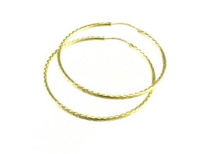 Zlaté kruhy 43mm