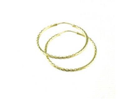 Zlaté kruhy 30mm