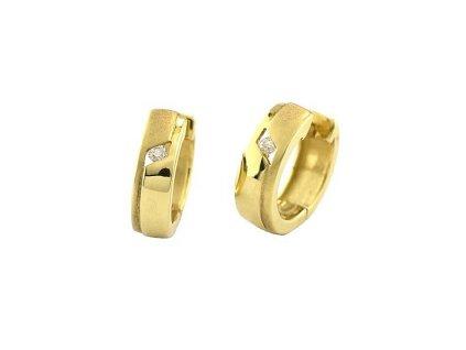 Kruhové náušnice s brilianty ve tvaru prstenů