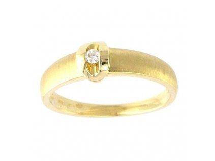 Briliantový prsten ze žlutého zlata