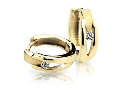 Náušnice s brilianty v prstencovém tvaru Z 2023