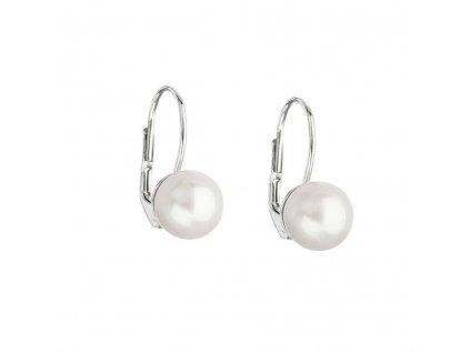 Perlové náušnice bílé zlato 7mm (přírodní perly)