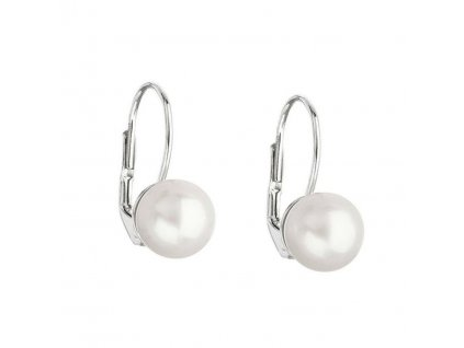 Perlové náušnice z bílého zlata 8mm (přírodní perly)