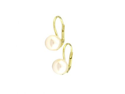 Perlové náušnice ze zlata 8mm