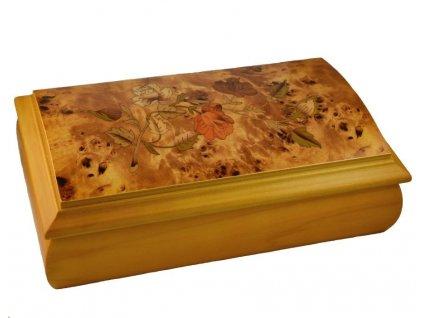 Dřevěná romantická šperkovnice VZ1600