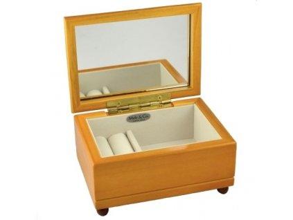 Dřevěná šperkovnice se zrcátkem VZ1435