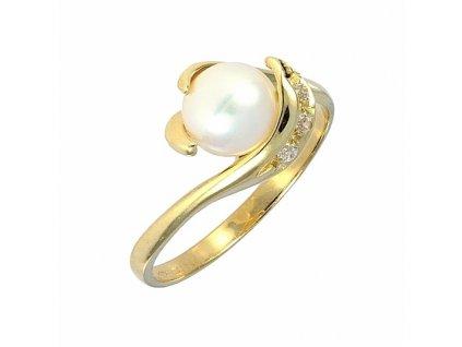 Perlový prsten 7mm