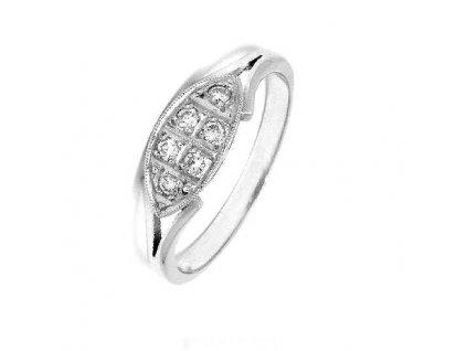 Brilantní briliantový prsten z bílého zlata