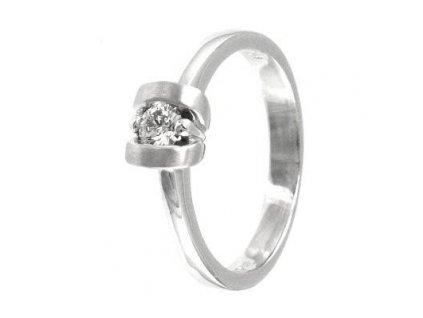 Briliantový prsten bílé zlato