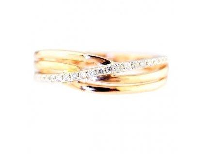 Briliantový prsten z růžového zlata