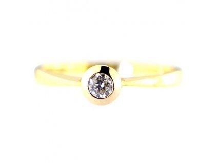 Briliantový prsten – 14 karátové žluté zlato