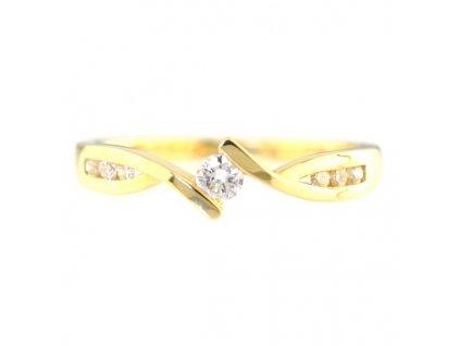 Elegantní prsten 14 karátové zlato s brilianty