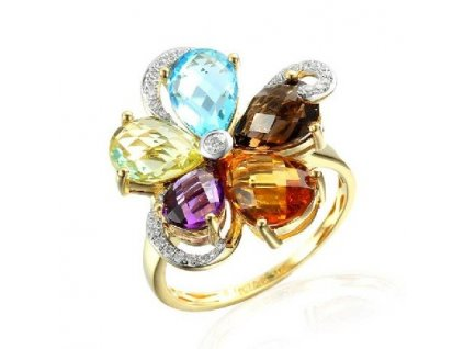 Briliantový prsten - multi
