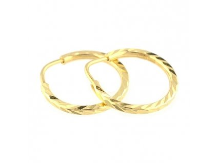 Zlaté kruhy 16mm