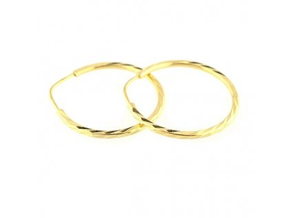 Zlaté kruhy 24mm