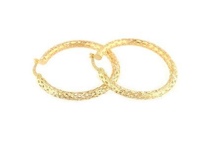 Zlaté kruhy v designu síťky 30mm