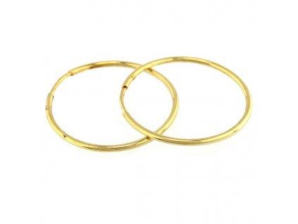Zlaté kruhy 23mm