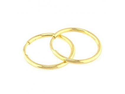 Zlaté kruhy 14mm