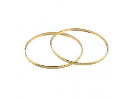 Zlaté kruhy 60mm