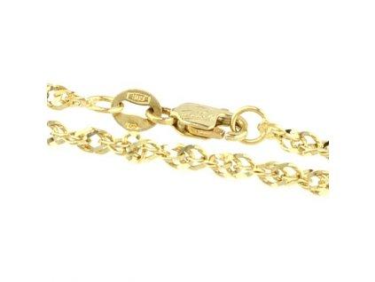 1138-5 Zlatý náramek 18cm žluté zlato