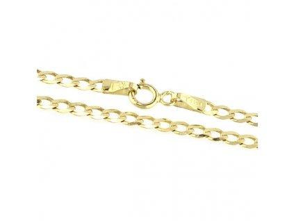 Zlatý náramek 18cm