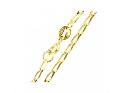 1116-5 Zlatý náramek 18cm žluté zlato