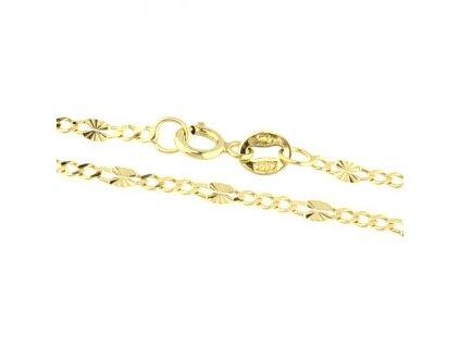 1237-5 Zlatý náramek 18cm žluté zlato