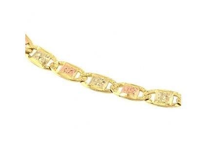 Zlatý náramek 19cm