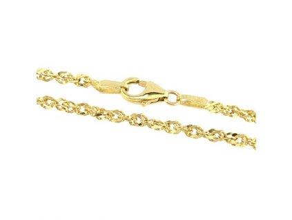 Zlatý náramek 20cm