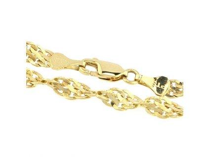 Zlatý náramek 21cm
