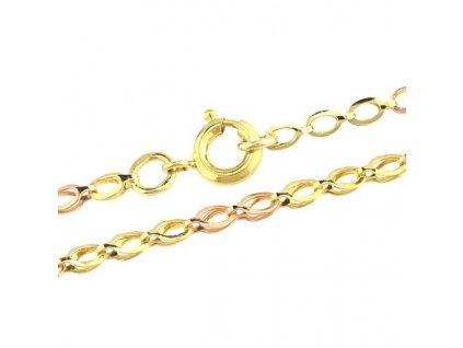 Zlatý řetízek 42cm z kombinovaného zlata