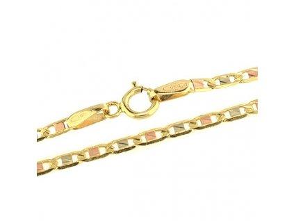 Zlatý řetízek 42cm kombinované zlato
