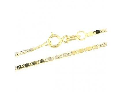 1497-5 Zlatý řetízek 42cm ze žlutého a bílého zlata