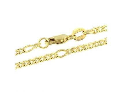 Zlatý řetízek 45cm ze žlutého zlata