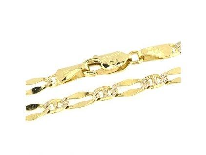 Zlatý řetízek 45cm z kombinovaného zlata